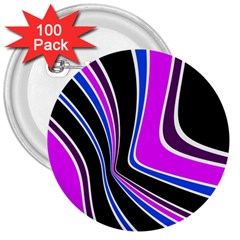 Colors Of 70 s 3  Buttons (100 Pack)  by Valentinaart