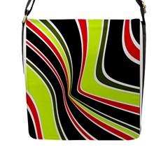 Colors Of 70 s Flap Messenger Bag (l)  by Valentinaart