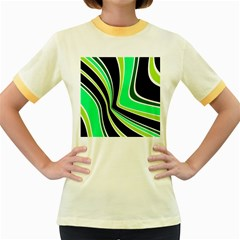Colors of 70 s Women s Fitted Ringer T-Shirts