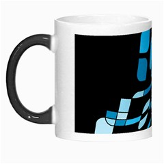 Blue Abstraction Morph Mugs by Valentinaart