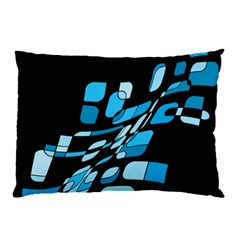 Blue Abstraction Pillow Case (two Sides) by Valentinaart