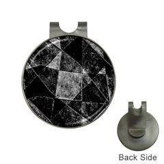 Dark Geometric Grunge Pattern Print Hat Clips With Golf Markers by dflcprints