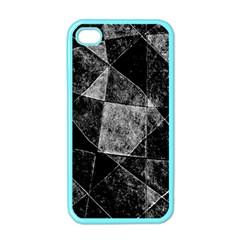 Dark Geometric Grunge Pattern Print Apple Iphone 4 Case (color) by dflcprints