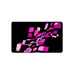 Purple abstraction Magnet (Name Card) by Valentinaart