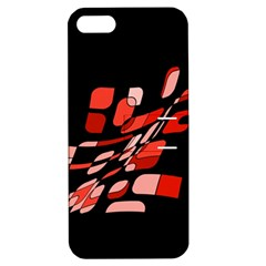 Orange Abstraction Apple Iphone 5 Hardshell Case With Stand by Valentinaart