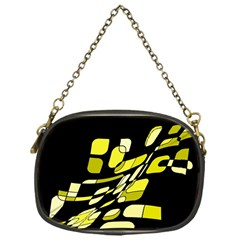 Yellow abstraction Chain Purses (One Side)  by Valentinaart