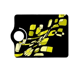 Yellow Abstraction Kindle Fire Hd (2013) Flip 360 Case by Valentinaart
