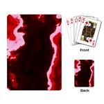 crimson sky Playing Card