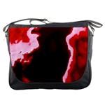 crimson sky Messenger Bags