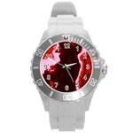 crimson sky Round Plastic Sport Watch (L)
