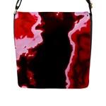 crimson sky Flap Messenger Bag (L)