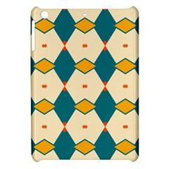Blue Yellow Rhombus Pattern                                                                                 apple Ipad Mini Hardshell Case by LalyLauraFLM