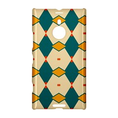 Blue Yellow Rhombus Pattern                                                                                 			nokia Lumia 1520 Hardshell Case by LalyLauraFLM