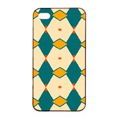 Blue Yellow Rhombus Pattern                                                                                 apple Iphone 4/4s Seamless Case (black) by LalyLauraFLM