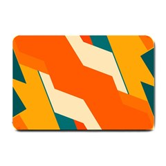 Shapes In Retro Colors                                                                                  			small Doormat by LalyLauraFLM