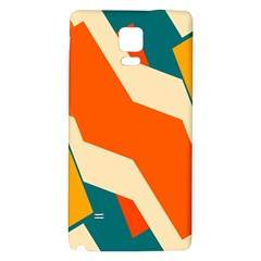 Shapes In Retro Colors                                                                                  			samsung Note 4 Hardshell Back Case by LalyLauraFLM