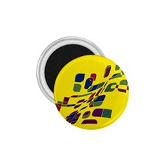 Yellow Abstraction 1 75  Magnets by Valentinaart