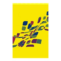 Yellow Abstraction Shower Curtain 48  X 72  (small)  by Valentinaart