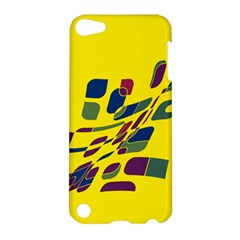 Yellow Abstraction Apple Ipod Touch 5 Hardshell Case by Valentinaart