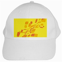 Yellow Abstraction White Cap by Valentinaart