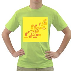 Yellow abstraction Green T-Shirt by Valentinaart