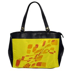 Yellow Abstraction Office Handbags by Valentinaart