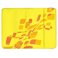 Yellow abstraction Samsung Galaxy Tab 7  P1000 Flip Case by Valentinaart