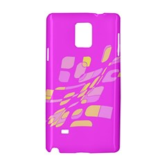 Pink Abstraction Samsung Galaxy Note 4 Hardshell Case by Valentinaart