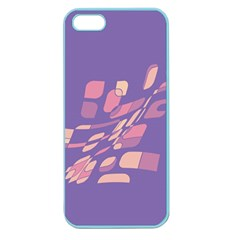 Purple Abstraction Apple Seamless Iphone 5 Case (color) by Valentinaart