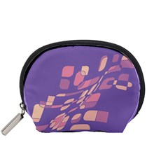 Purple abstraction Accessory Pouches (Small)  by Valentinaart