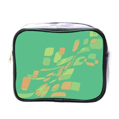 Green abastraction Mini Toiletries Bags by Valentinaart