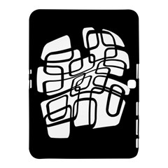 White Abstraction Samsung Galaxy Tab 4 (10 1 ) Hardshell Case  by Valentinaart