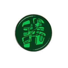 Green Abstraction Hat Clip Ball Marker (4 Pack) by Valentinaart