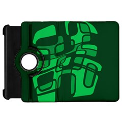 Green abstraction Kindle Fire HD Flip 360 Case by Valentinaart