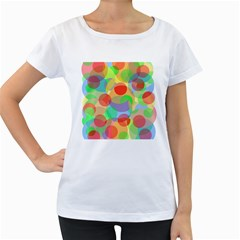 Colorful circles Women s Loose-Fit T-Shirt (White) by Valentinaart