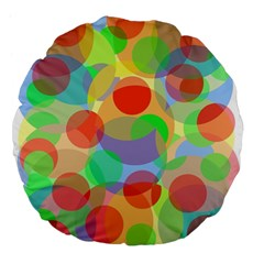 Colorful circles Large 18  Premium Flano Round Cushions by Valentinaart