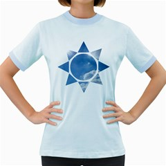 Sun Women s Fitted Ringer T Shirts by itsybitsypeakspider