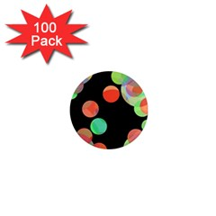 Colorful Circles 1  Mini Magnets (100 Pack)  by Valentinaart