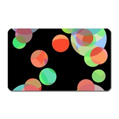 Colorful Circles Magnet (rectangular) by Valentinaart