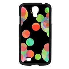 Colorful Circles Samsung Galaxy S4 I9500/ I9505 Case (black) by Valentinaart