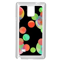 Colorful circles Samsung Galaxy Note 4 Case (White) by Valentinaart