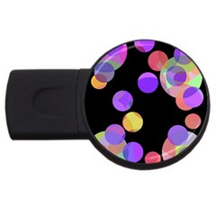 Colorful Decorative Circles Usb Flash Drive Round (4 Gb)  by Valentinaart