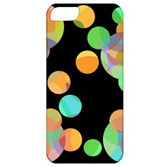 Orange Circles Apple Iphone 5 Classic Hardshell Case by Valentinaart