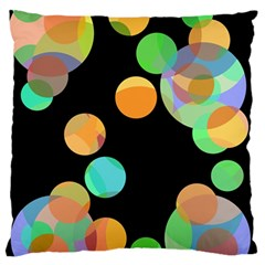Orange Circles Standard Flano Cushion Case (one Side) by Valentinaart