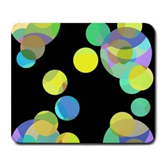 Yellow Circles Large Mousepads by Valentinaart