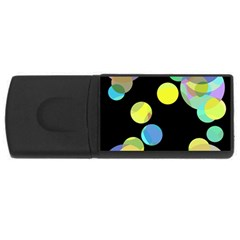 Yellow circles USB Flash Drive Rectangular (4 GB)