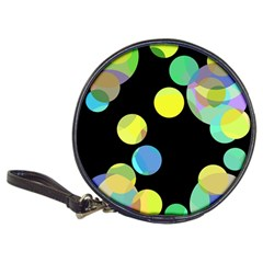 Yellow circles Classic 20-CD Wallets by Valentinaart