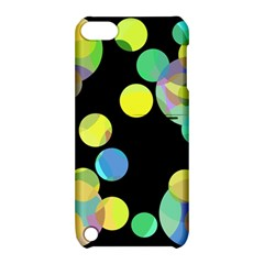 Yellow Circles Apple Ipod Touch 5 Hardshell Case With Stand by Valentinaart
