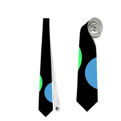 Green decorative circles Neckties (Two Side)  by Valentinaart