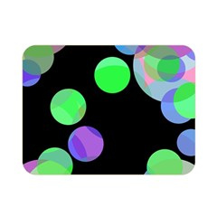 Green Decorative Circles Double Sided Flano Blanket (mini)  by Valentinaart